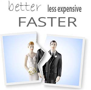 Better, less expensive, faster divorce